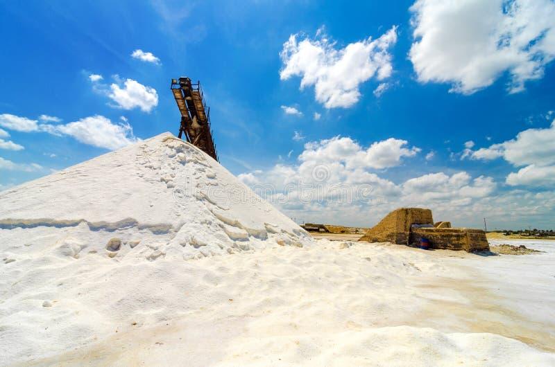 Produção de sal foto de stock