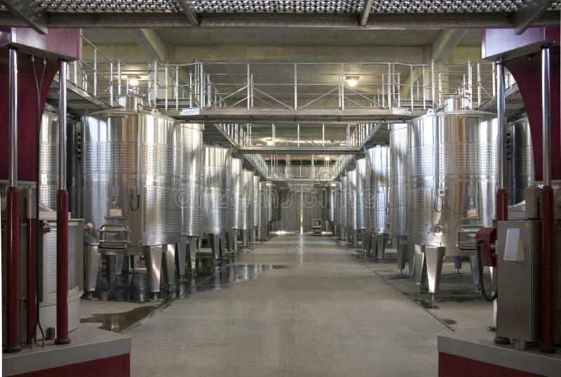 Produção de vinho - vale de Colchagua - o Chile foto de stock