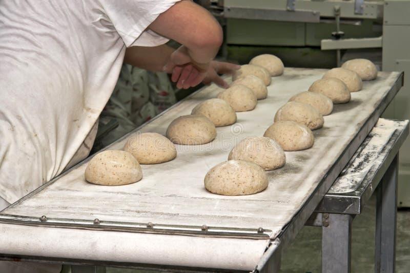 Produção do pão fotografia de stock
