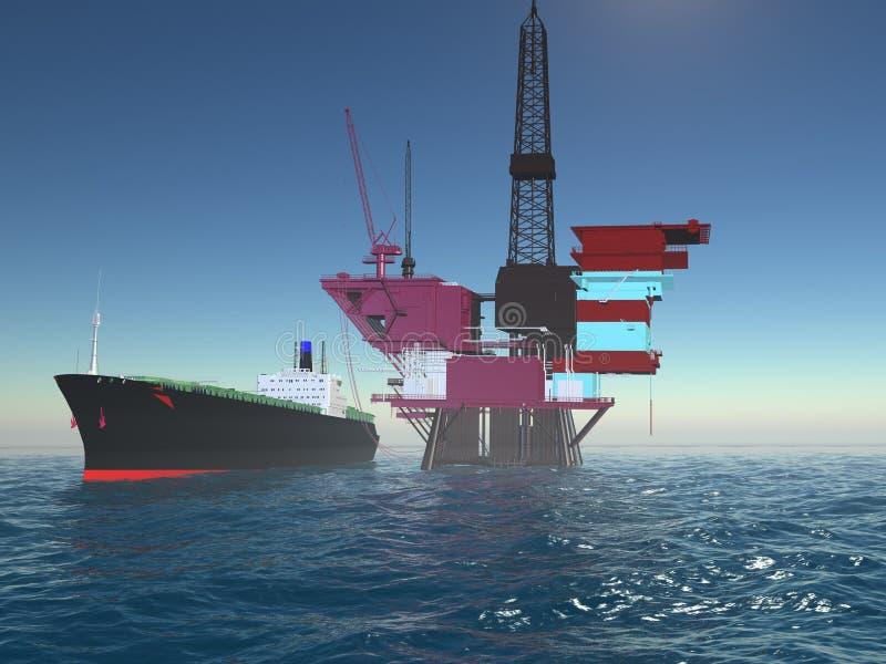 Produção do petróleo ilustração royalty free