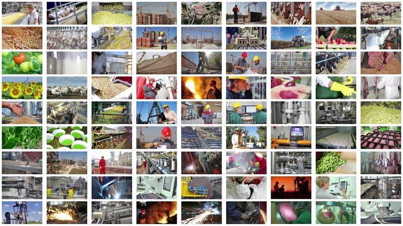 Produção industrial da colagem foto de stock