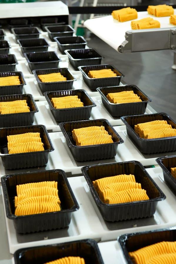 Producción alimentaria industrial imagen de archivo