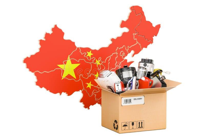 Producción, compras y entrega de los aparatos electrodomésticos de C stock de ilustración