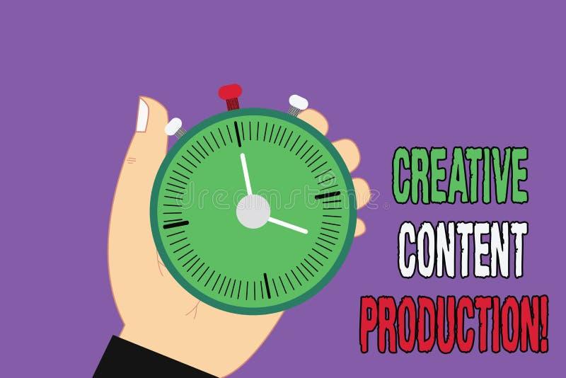 Producción contenta creativa del texto de la escritura Significado del concepto que desarrolla y que crea los activos visuales o  ilustración del vector