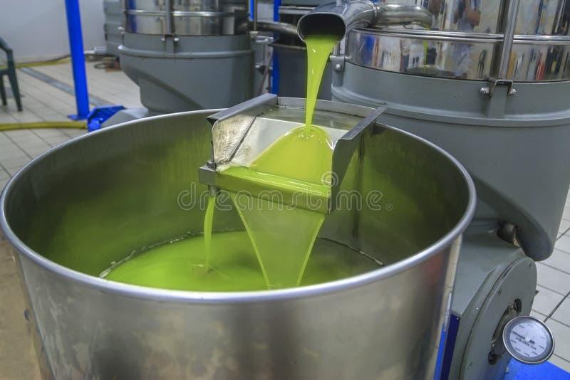 Producción de aceite de oliva foto de archivo
