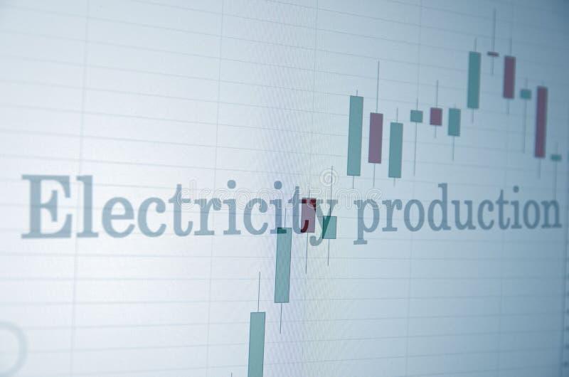 Producción de electricidad fotografía de archivo libre de regalías
