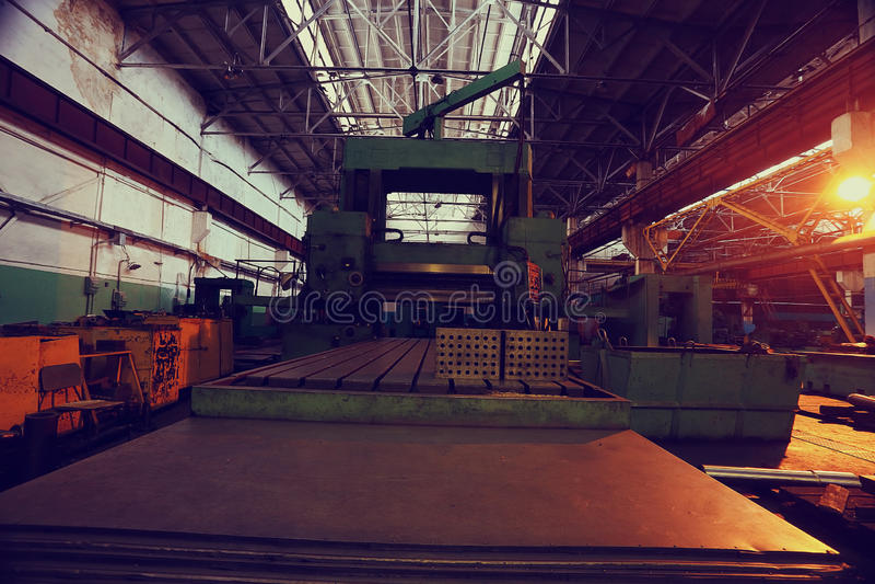 Producción de estructuras del metal fotografía de archivo