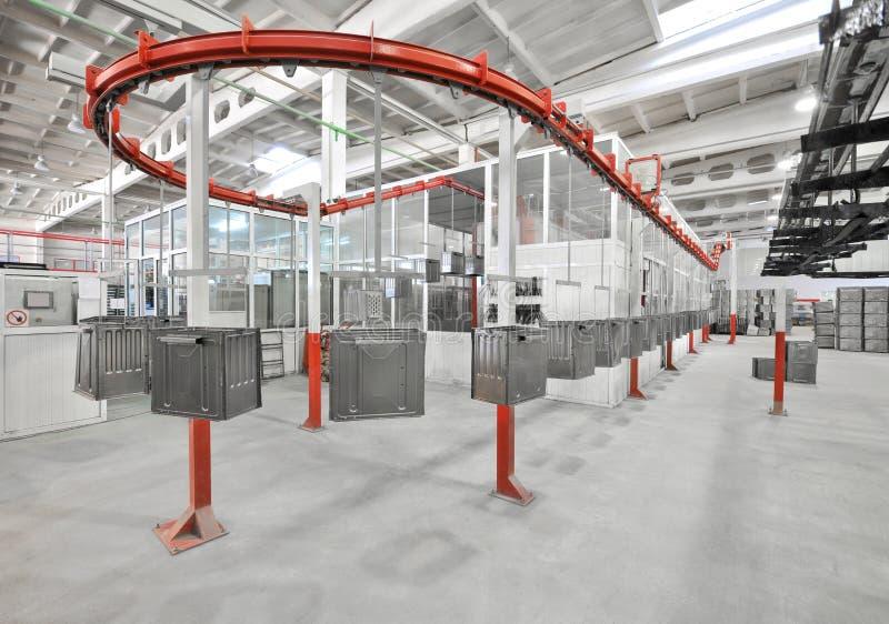 Producción de estufas de gas imágenes de archivo libres de regalías