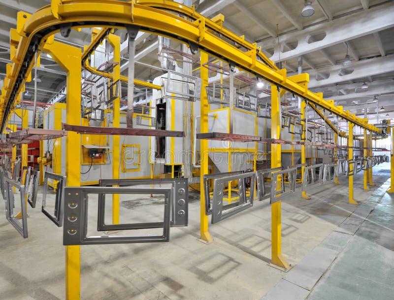 Producción de estufas de gas fotografía de archivo libre de regalías