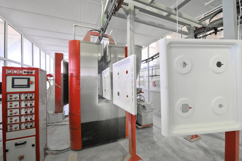 Producción de estufas de gas imagenes de archivo