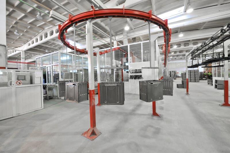 Producción de estufas de gas foto de archivo libre de regalías