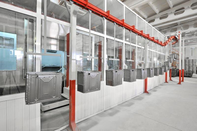 Producción de estufas de gas fotografía de archivo