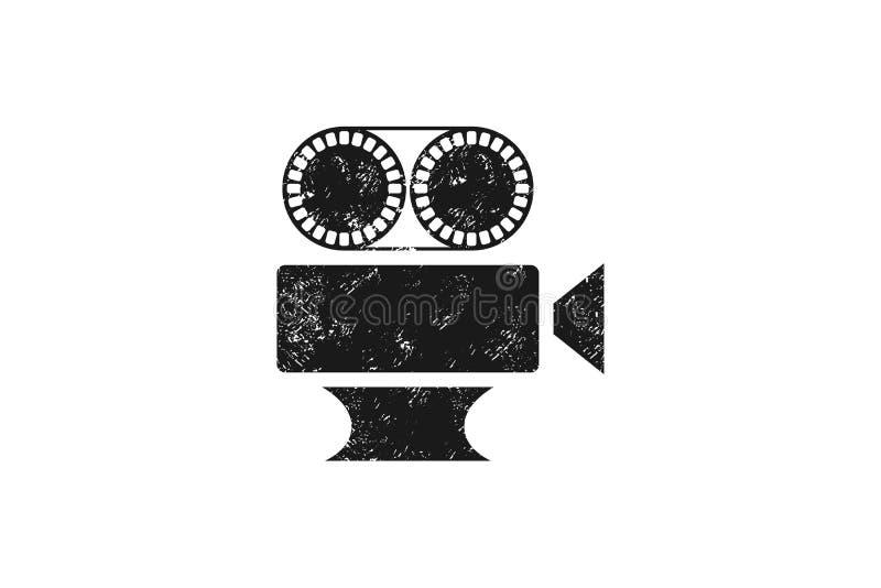 producción de la casa, cámara Logo Designs Inspiration Isolated video en el fondo blanco stock de ilustración
