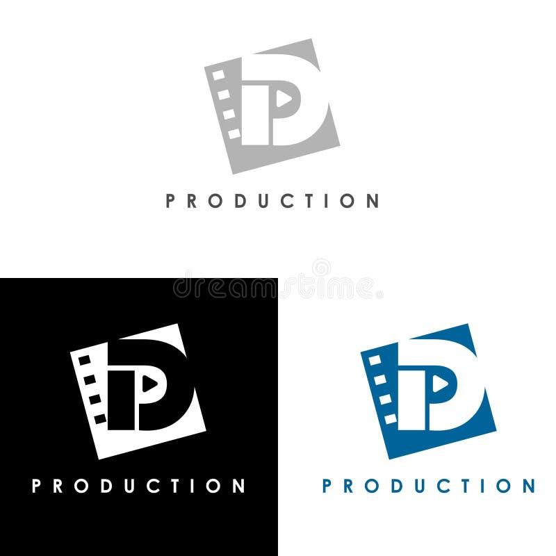 Producción de la casa del logotipo de la producción libre illustration