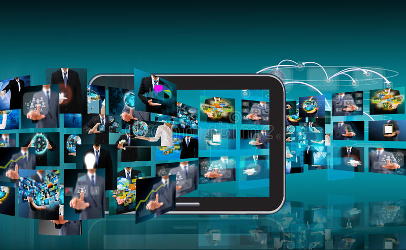 Producción de la televisión y de Internet fotografía de archivo