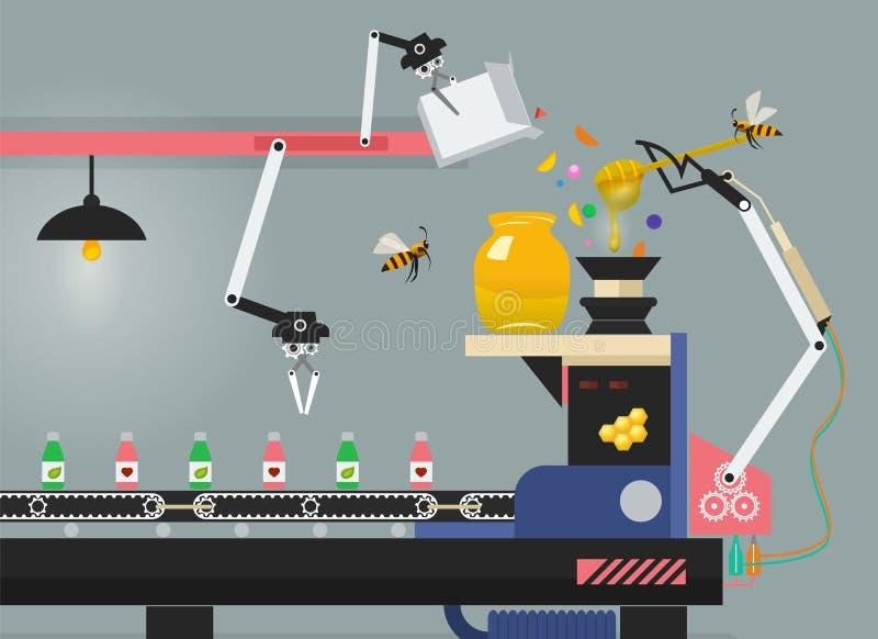 Producción de medicina en fábrica farmacéutica libre illustration