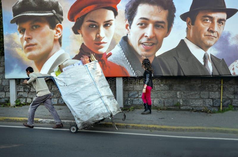 Producción de Turquía del sueño de un cartel de la película de calle de la mariposa foto de archivo libre de regalías