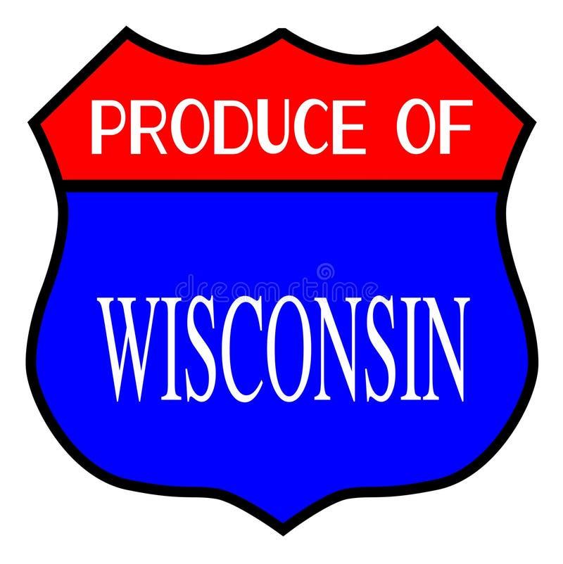Producción de Wisconsin ilustración del vector