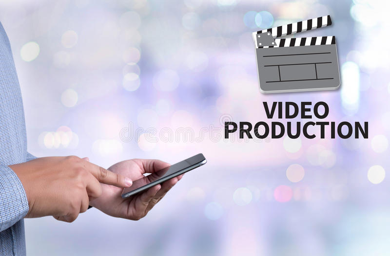 Producción video fotos de archivo