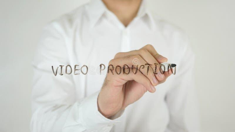 Producción video, escrita en el vidrio fotografía de archivo
