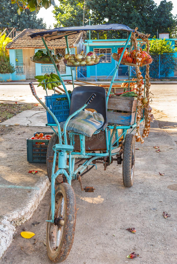 Produce Stand in Cuba stock photography