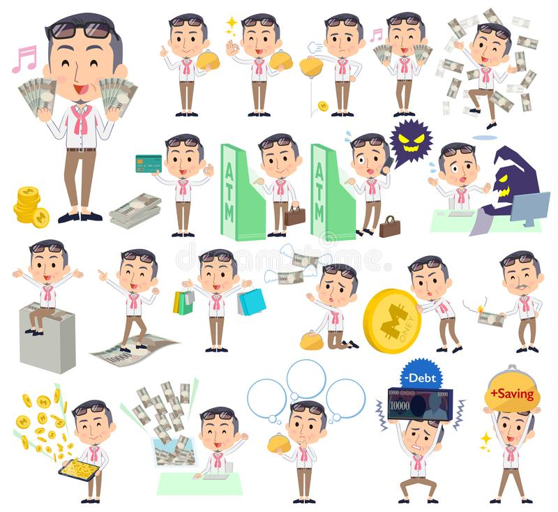 Producenta środka men_money ilustracja wektor