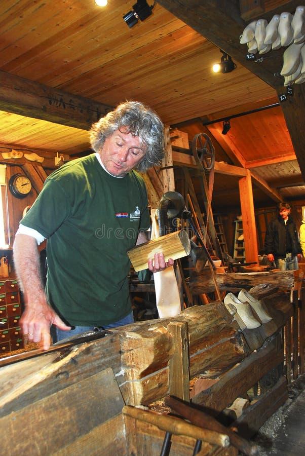 producenta drewniany obuwiany zdjęcia stock