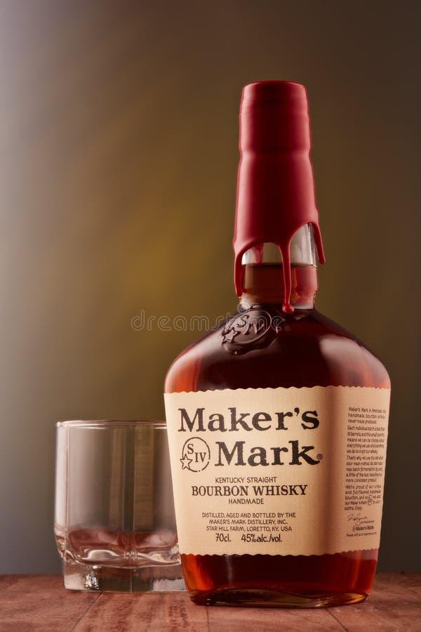 producenta Mark bourbonu whisky StPetersburg Rosja, Luty - 2019 - fotografia royalty free
