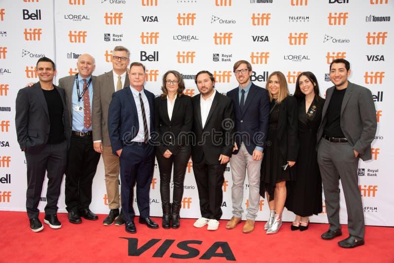 Producenter och filmbesättning på premiären av `-Ben Is Back ` på tiff2018 royaltyfri foto