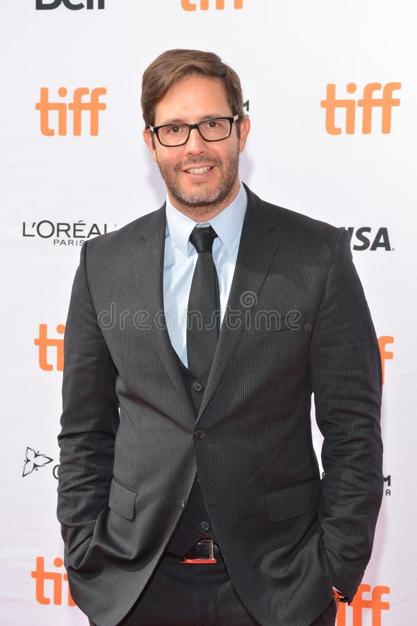 Producer Terry Dougas attends the `Unicorn Store` premiere at 2017 Toronto International Film Festival. Producer Terry Dougas attends the `Unicorn Store` royalty free stock image