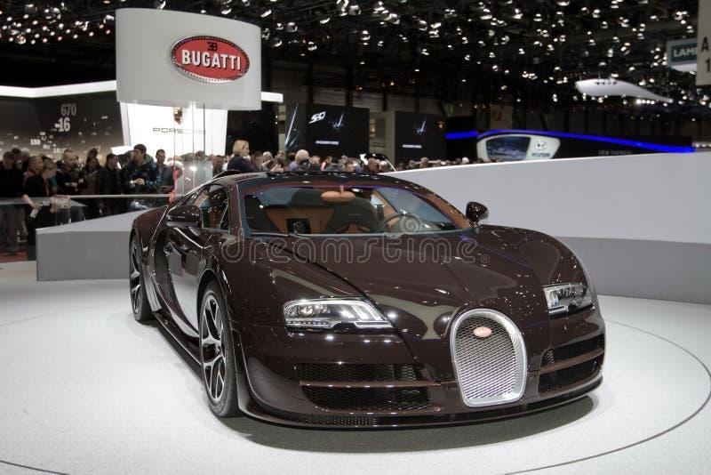 Bugatti Veyron Vitesse - Geneva Motor Show 2013 royalty free stock images