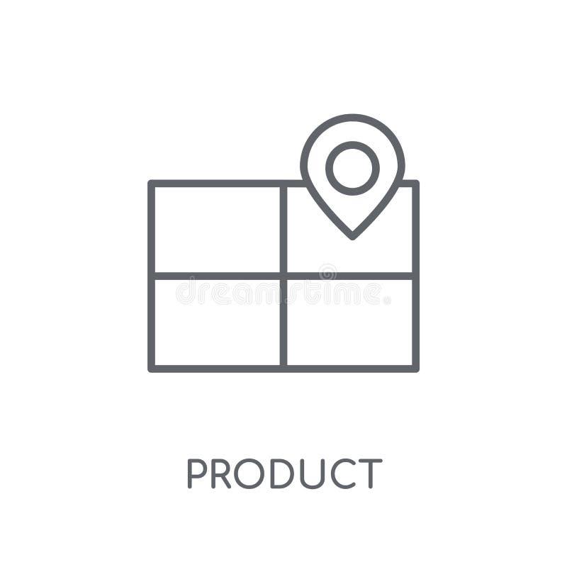 Product die lineair pictogram plaatsen De moderne Positie van het overzichtsproduct stock illustratie