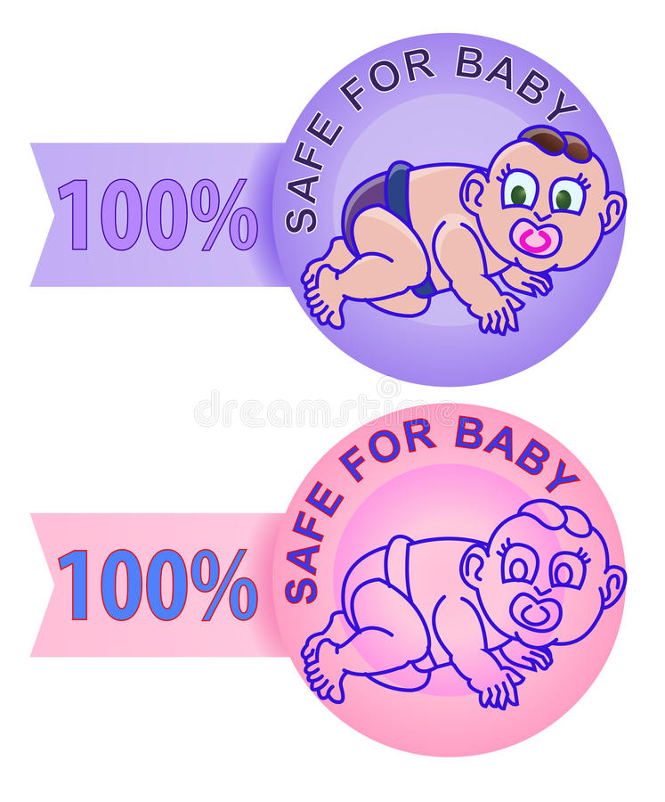 Download Product Label Safe For Children Stock Vector - Image: 24682183