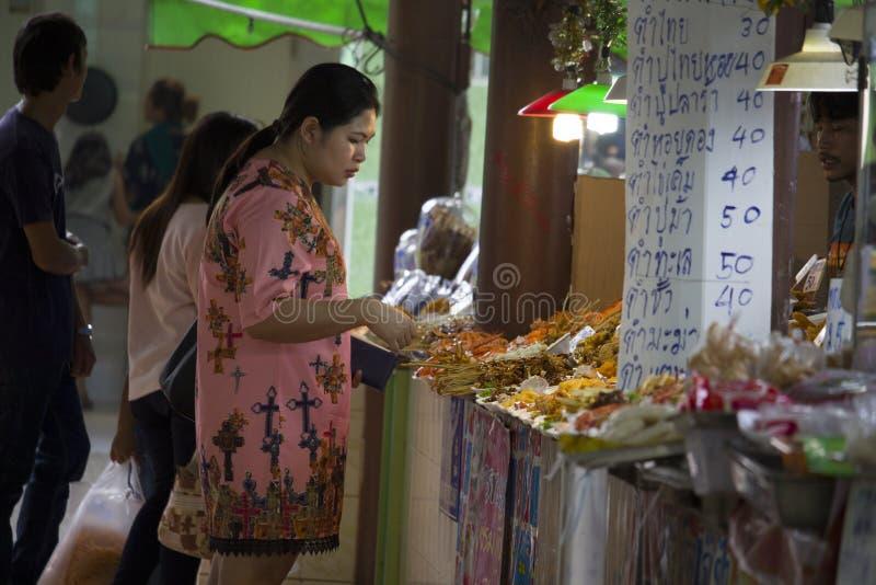 Product Marketing At Don Hoi Lamp Samut Songkhram Province, Thailand royalty free stock photos