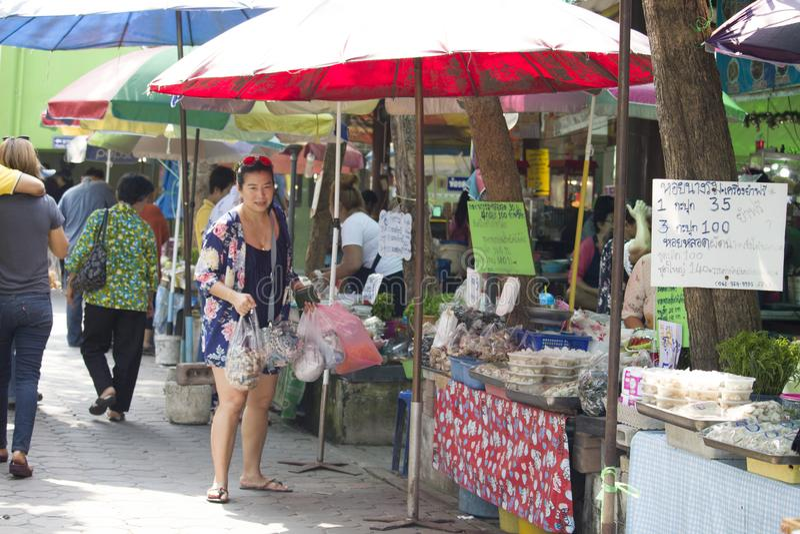 Product Marketing At Don Hoi Lamp Samut Songkhram Province, Thailand royalty free stock images