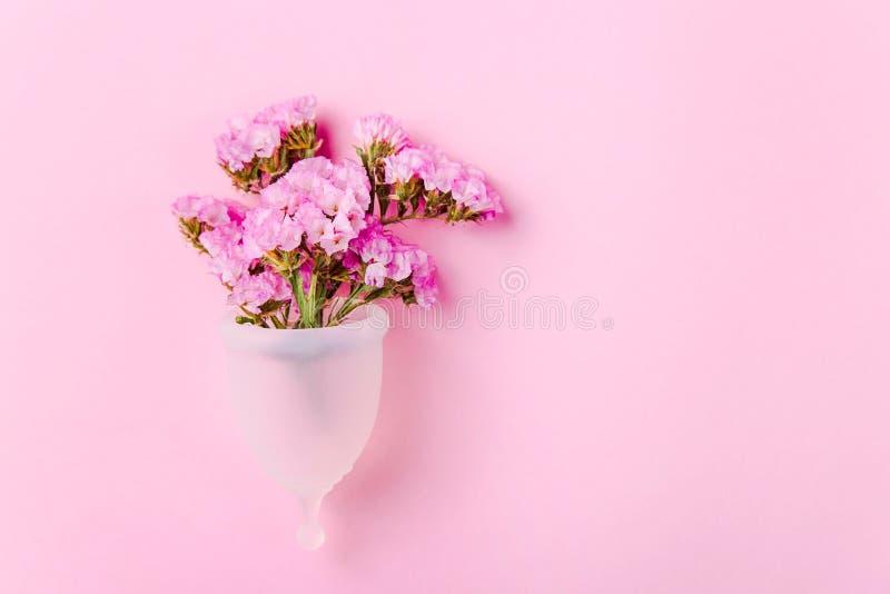 Product om het concept nul afval na te leven - menstruele kop stock fotografie