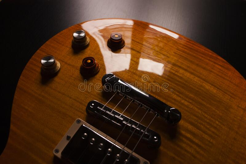 Product Photography Of Brown Electric Guitar Free Public Domain Cc0 Image
