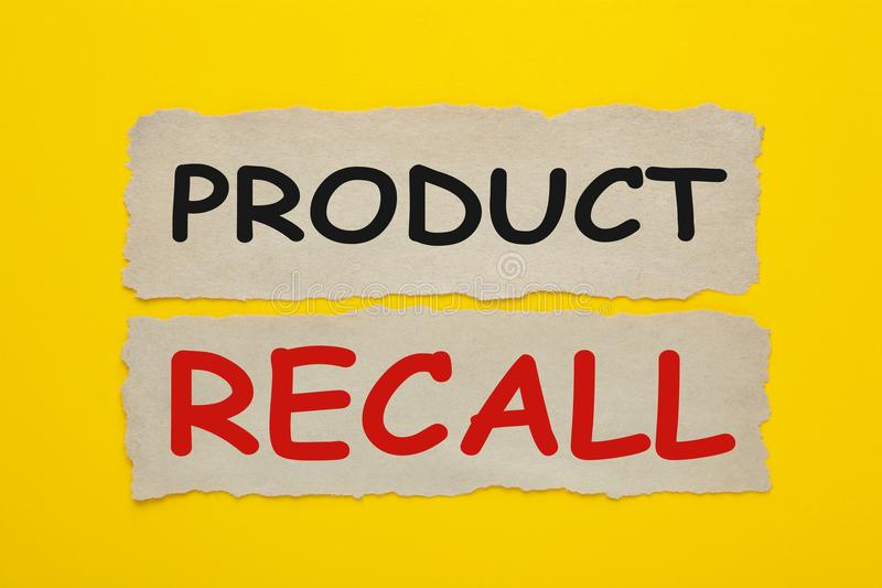Product recall concept stock photography