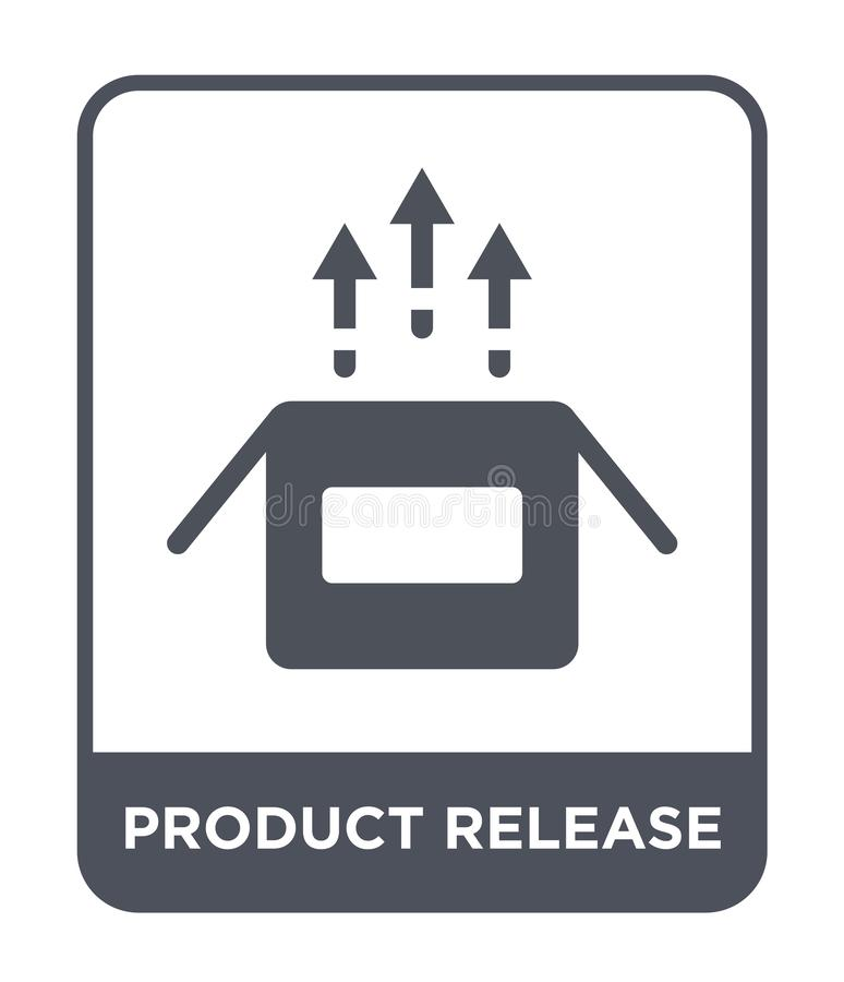 product release icon in trendy design style. product release icon isolated on white background. product release vector icon simple royalty free illustration