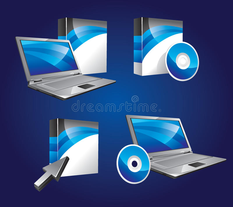 Product Software Icons Royalty Free Stock Image
