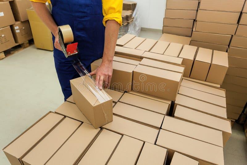 Producten verpakking royalty-vrije stock foto