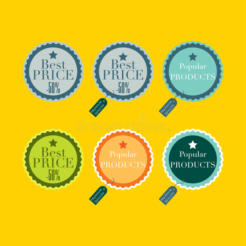 Productetiketten royalty-vrije illustratie
