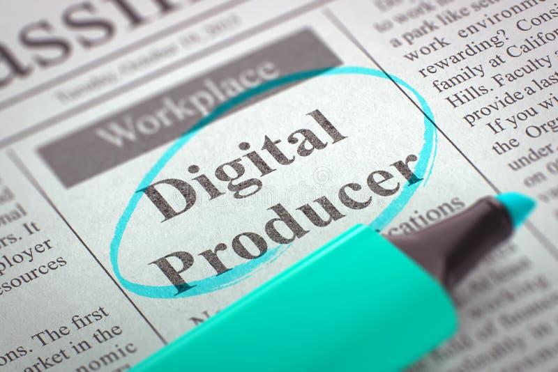 Producteur Wanted de Digital 3d illustration libre de droits