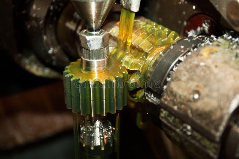 Productie van delen voor tractoren royalty-vrije stock afbeelding