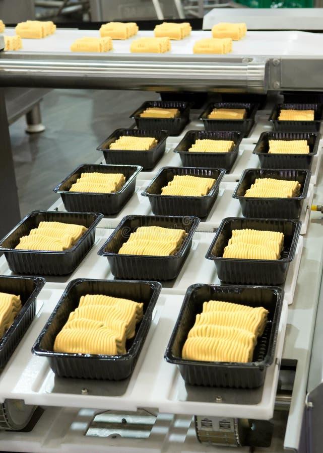 Production alimentaire industrielle images libres de droits