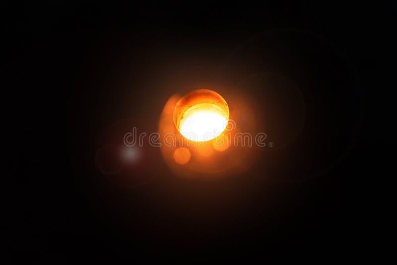 Production of aluminum. Melting furnace on a black background. Aluminum foundry. Orange bright molten steel. royalty free stock image
