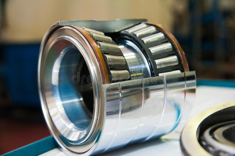 Production of bearings stock photography