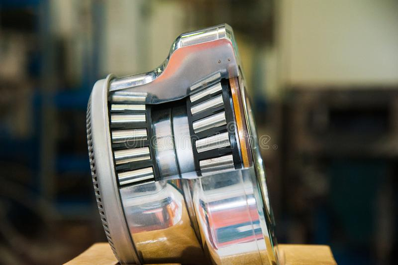 Production of bearings stock photos