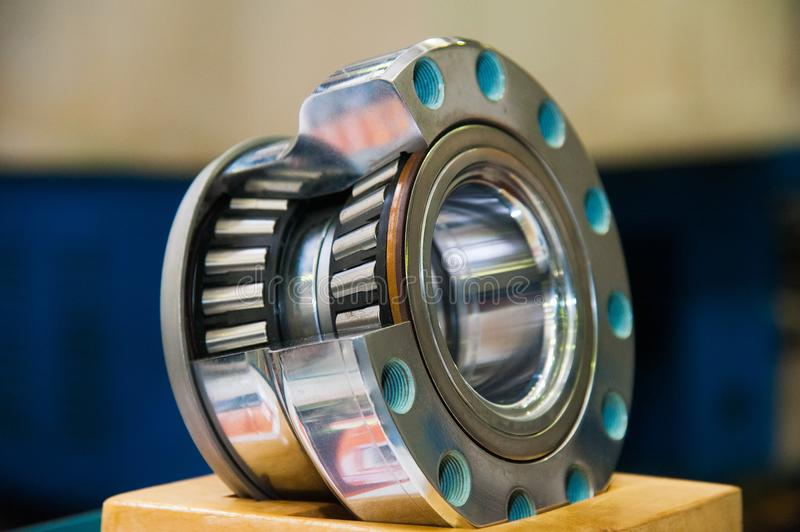 Production of bearings stock image