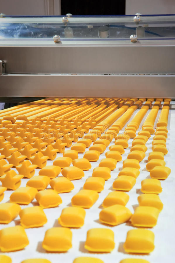 Download Production Of Biscuits Royalty Free Stock Photography - Image: 23157297